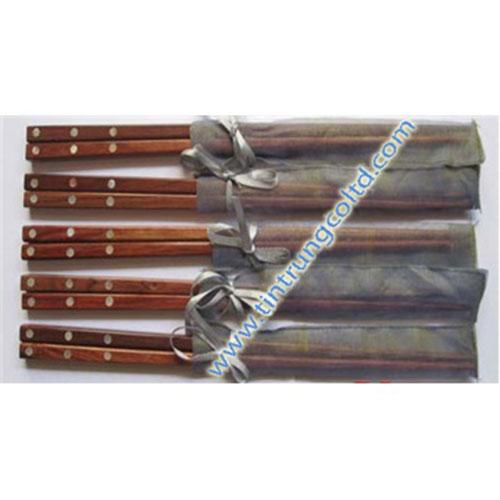 Đũa gỗ cẩm lai cẩn ba bi