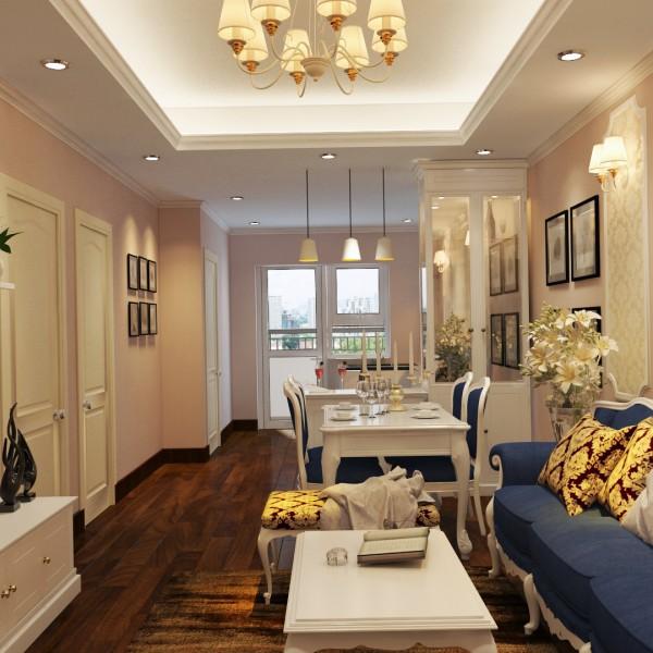 Thiết kế căn 2 phòng ngủ Anh thư căn hộ 930 HH1B
