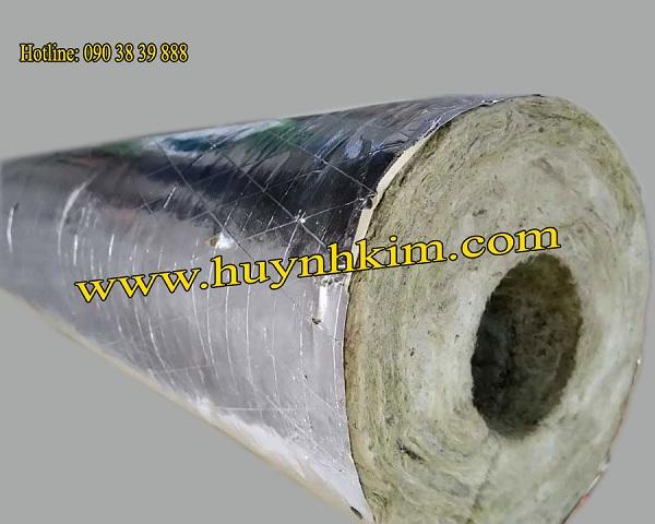 Bông khoáng ống có giấy bạc