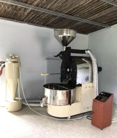 Máy rang cà phê mẻ 10-100kg