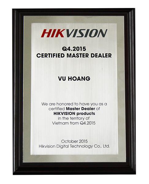 Chứng nhận Hikvision