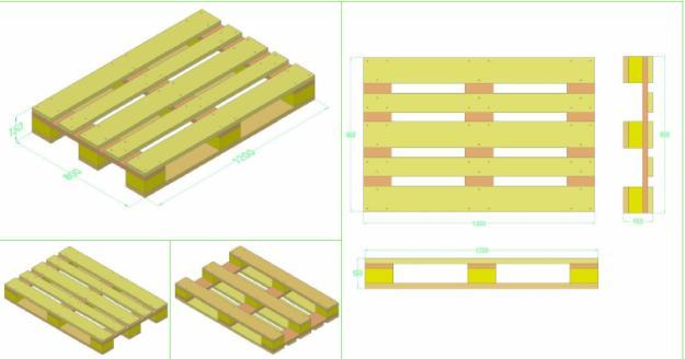 Pallet gỗ theo bản vẽ