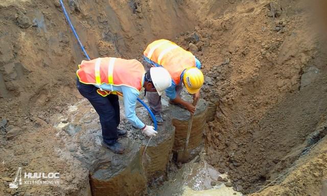 Cọc xi măng đất CDM