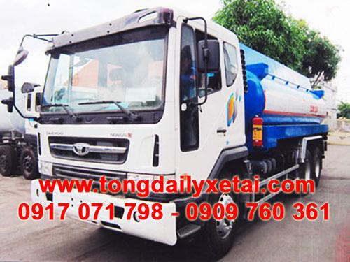 Xe tải Daewoo bồn xăng dầu 17 khối