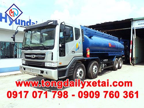 Xe tải Daewoo xi téc chở xăng