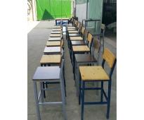 Bàn ghế sắt gỗ HTT 509