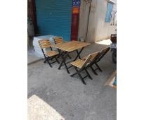 Bàn ghế sắt gỗ HTT 512