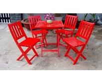 Bàn ghế sắt gỗ HTT 513