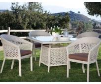 Bàn ghế nhựa sân vườn HTT 023