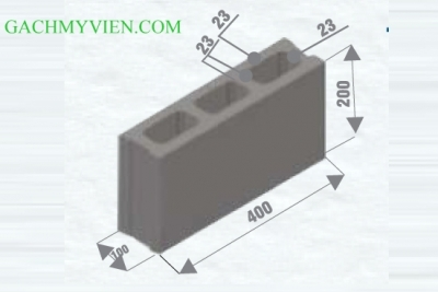 Gạch block 400 x 100 x 200
