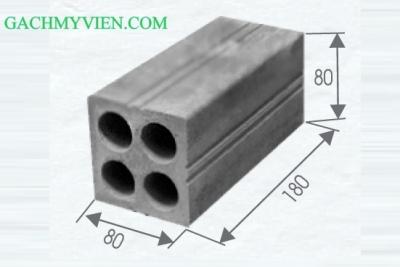 Gạch block 4 lỗ 180 x 80 x 80
