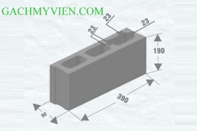 Gạch block 390 x 90 x 190