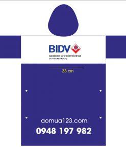 Áo mưa quảng cáo ngân hàng BIDV