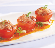 Cà chua nhồi thịt ghẹ