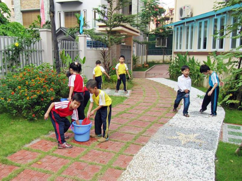 Thi công tiêu cảnh trường học