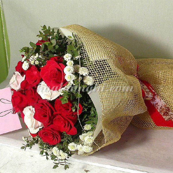 Lưới trang trí bó hoa