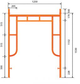 Giàn H1530x1250 có đầu nối