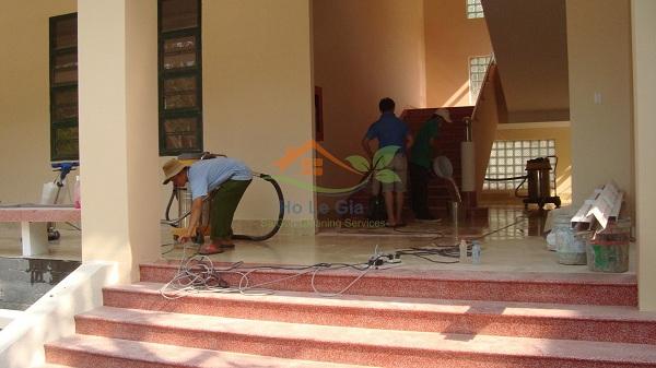 Vệ sinh trường học sau xây dựng
