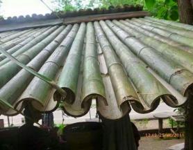 Mái lợp bằng tre