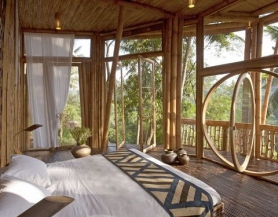 Phòng ngủ bằng tre