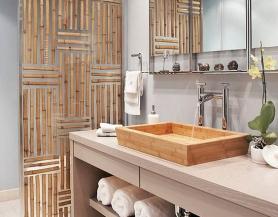 Phòng tắm bằng tre