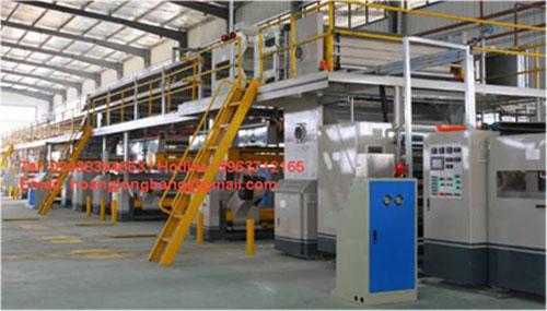 Máy móc sản xuất thùng các tông sóng