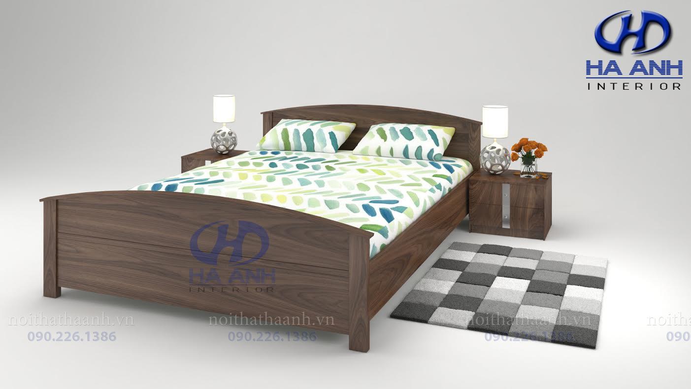 Giường gỗ tự nhiên óc chó