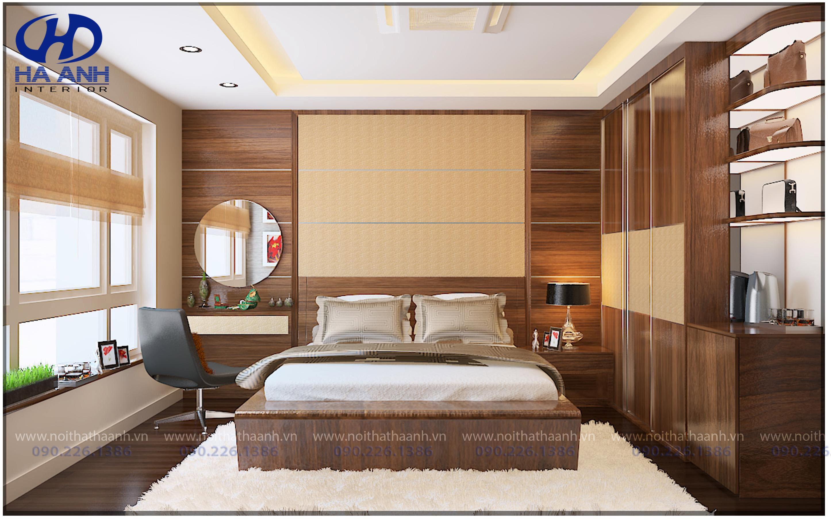 Nội thất phòng ngủ laminate