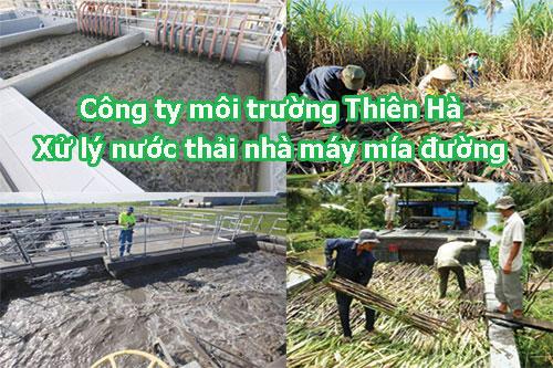 Xử lý nước thải nhà máy mía đường