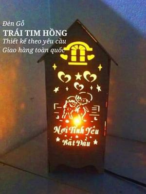 Đèn ngủ khắc chữ