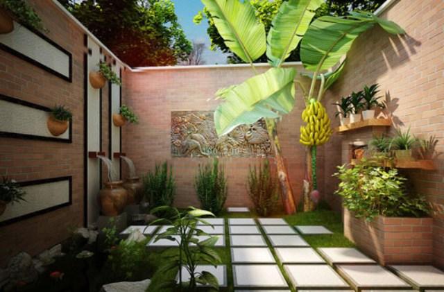 Thiết kế, thi công sân vườn
