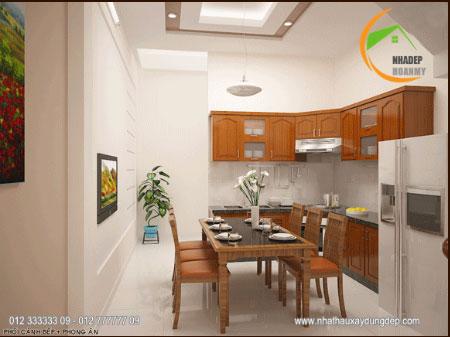 Thiết kế kiến trúc phòng ăn + bếp