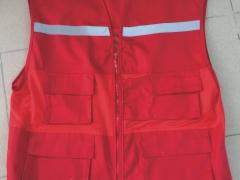 Áo gile màu đỏ