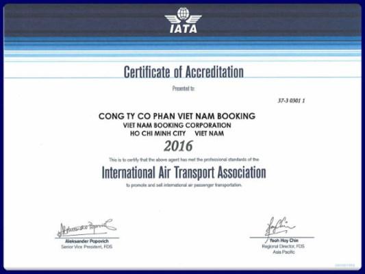Chứng nhận IATA