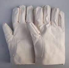 Găng tay bạt trắng