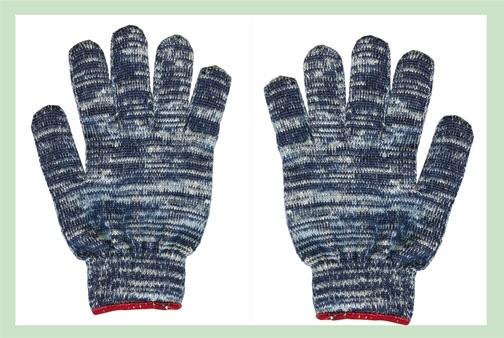 Găng tay sợi xám