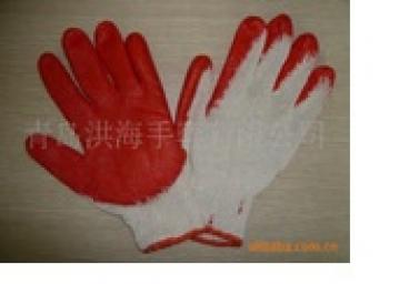 Găng tay sơn đỏ một mặt