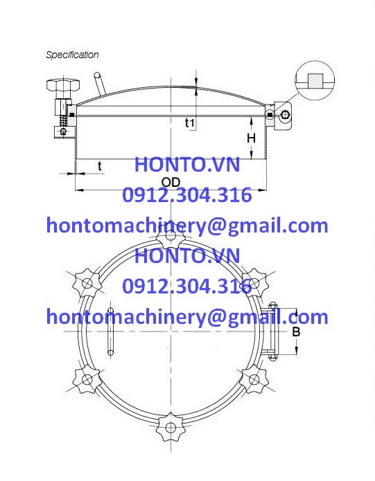 Cửa bồn tank áp lực inox vi sinh -HONTO-A-YAA_2