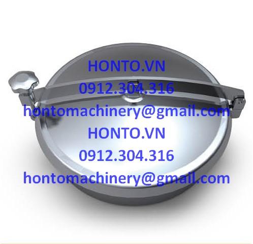 Cửa bồn tank áp lực thường inox vi sinh hình tròn gioăng trên-HONTO-B-YAB_1