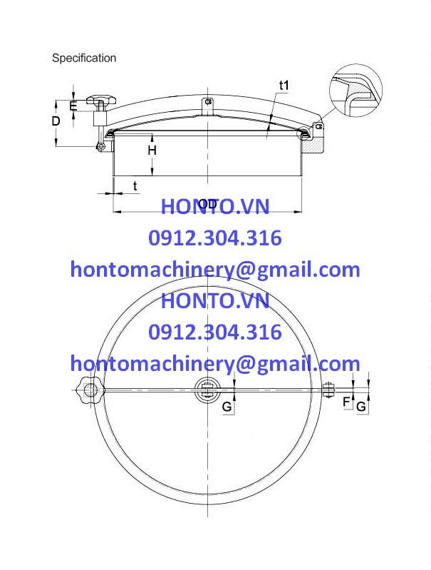 Cửa bồn tank áp lực thường inox vi sinh hình tròn gioăng trên-HONTO-B-YAB_2