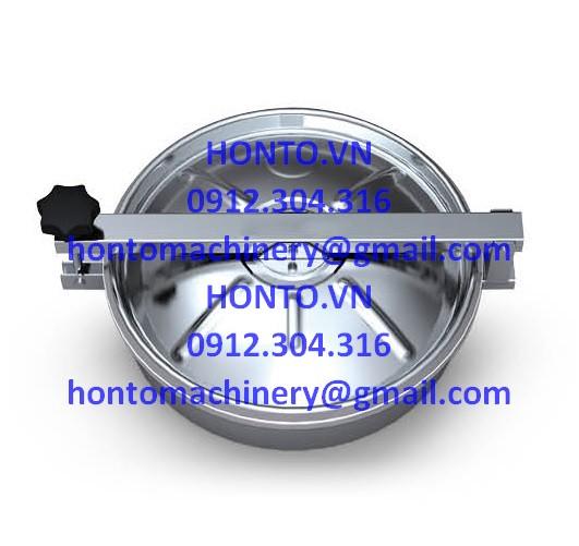 Cửa bồn tank áp lực thường inox vi sinh hình tròn gioăng trên-HONTO-B-B_1