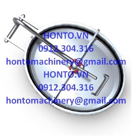 Cửa bồn tank elip inox vi sinh mở trong HONTO-C-YAC_1