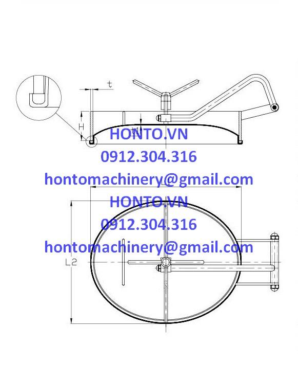 Cửa bồn tank elip inox vi sinh mở trong HONTO-C-YAC_2