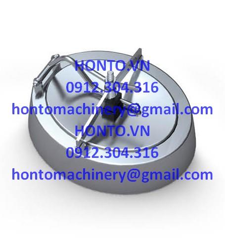 Cửa bồn tank elip inox vi sinh thành nghiêng mở trong HONTO-C-B_1