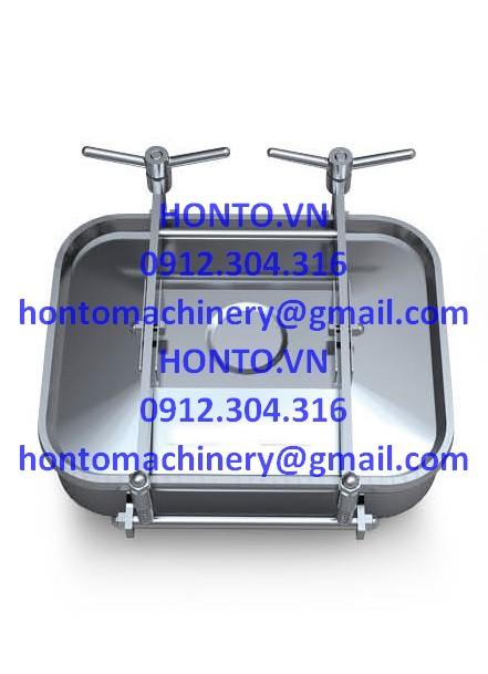 Cửa bồn tank inox vi sinh hình chữ nhật 2 tay vặn HONTO-E-YAE_1