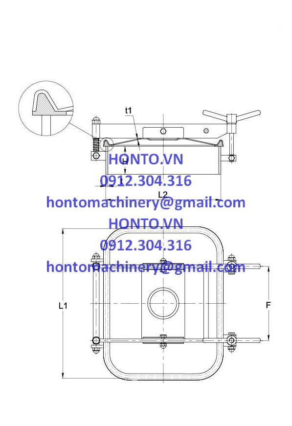 Cửa bồn tank inox áp lực vi sinh có 2 tay vặn HONTO-E-YAE_2