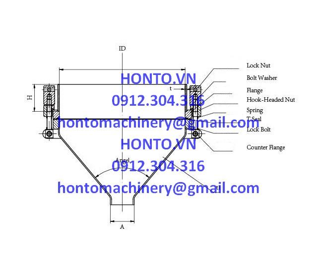 Cửa đáy bồn tank inox vi sinh-HONTO-SVB-0