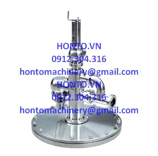 Cụm an toàn đỉnh bồn tank inox vi sinh HONTO-GAZ- 4D