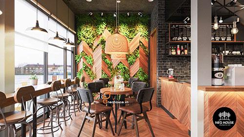 Thiết kế nội thất quán cà phê