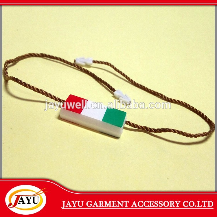 Screen printing plastic garment hang tag